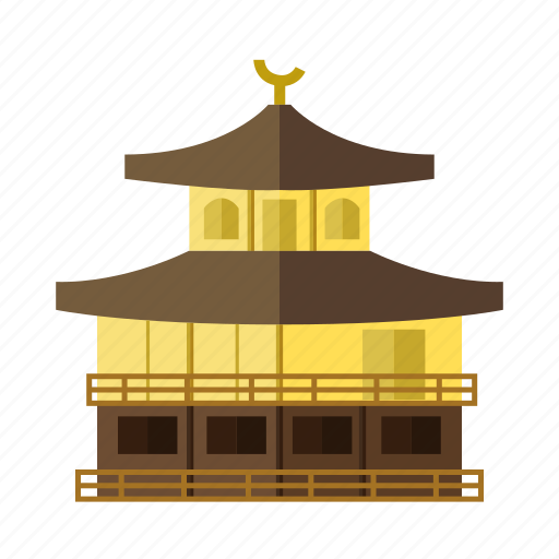 japanese architecture, kinkakuji temple, popular building, religious site, tourist attraction icon