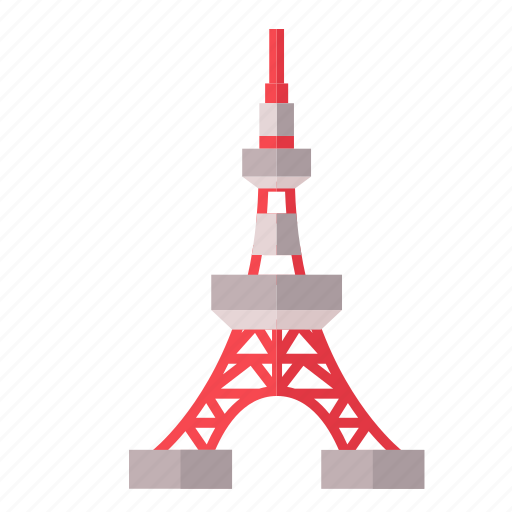 iconic landmark, observation tower, sightseeing, tokyo tower, tourist attraction icon