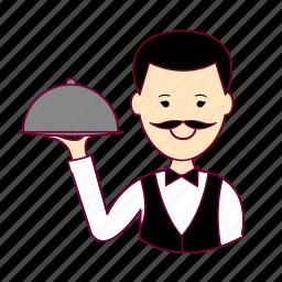 .svg, garçom, japan, japanese, job, profession, professional, profissão, waiter icon