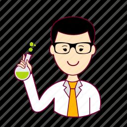 .svg, cientista, japan, japanese, job, profession, professional, profissão, scientist icon