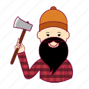 japan, japanese, job, lenhador, lumberjack, profession, professional, profissão icon