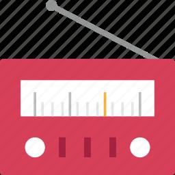 audio, device, equipment, music, radio, sound, station icon