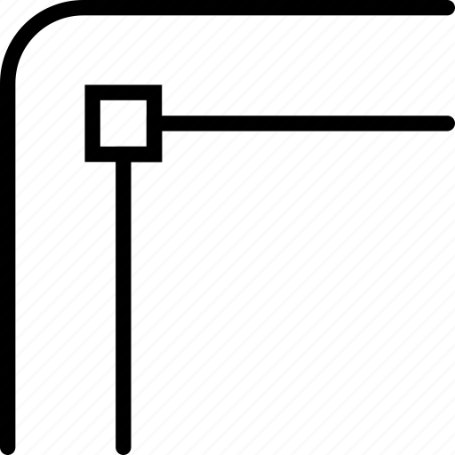 cap, design, draw, illustrator, line, round, tool icon