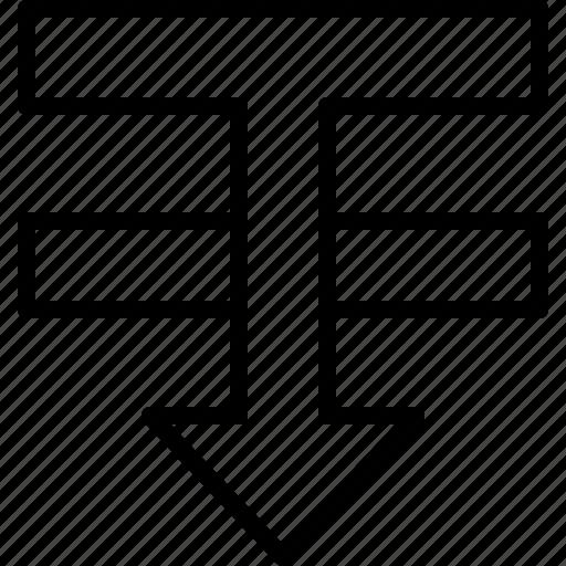 arrange, arrow, backward, design, draw, illustrator, tool icon
