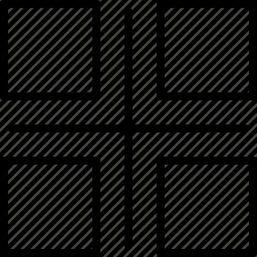 align, design, draw, grid, illustrator, line, selected icon