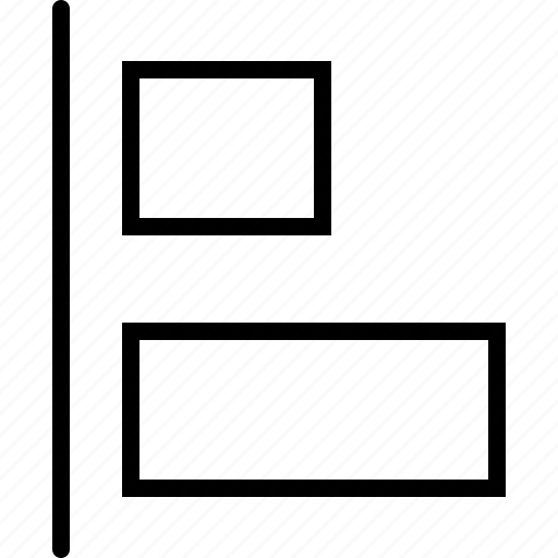 adjust, align, design, horizontal, left, regulate, size icon