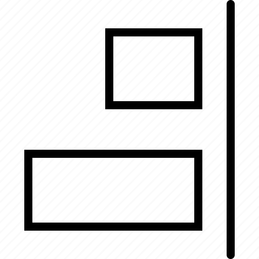 adjust, align, design, horizontal, regulate, right, size icon