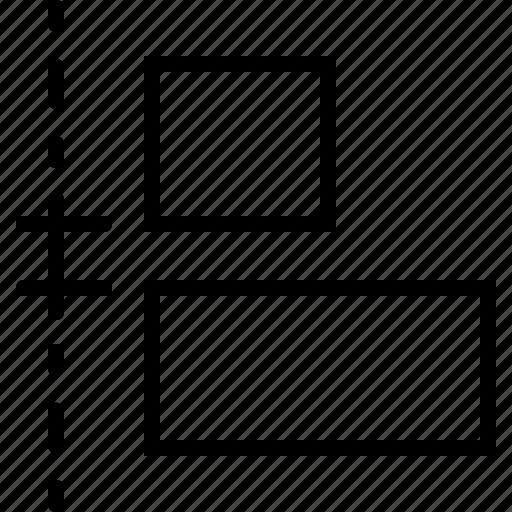 adjust, align, design, left, regulate, size, vertical icon