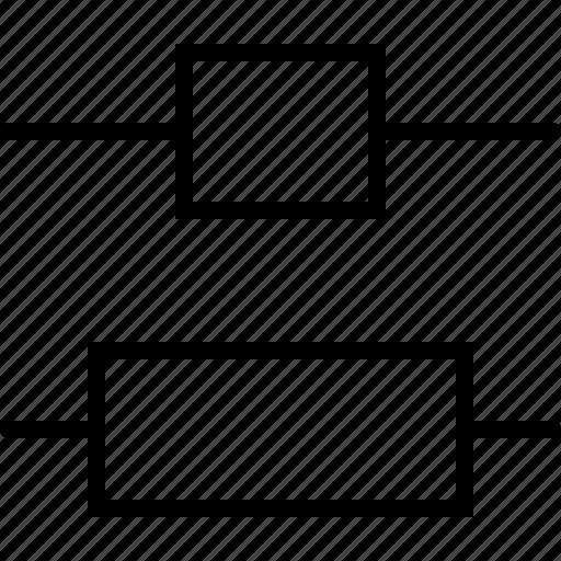 adjust, center, design, distribute, regulate, size, vertical icon