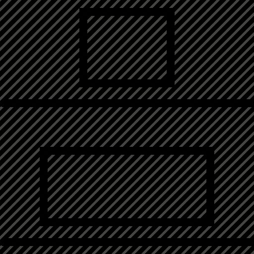 adjust, bottom, design, distribute, regulate, size, vertical icon