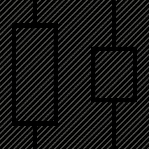 adjust, design, distribute, horizontal, middle, regulate, size icon