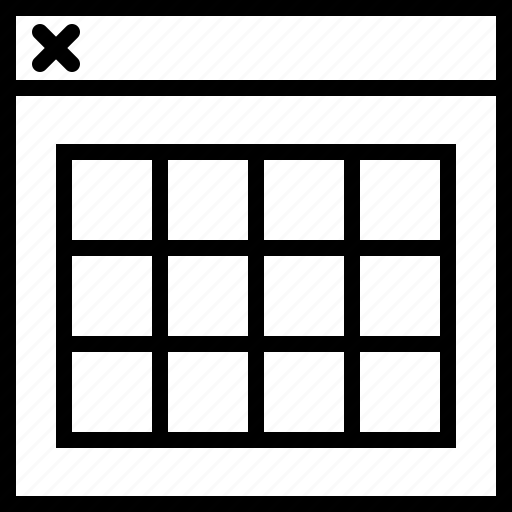 all, grid, in, size, tile, web, window icon