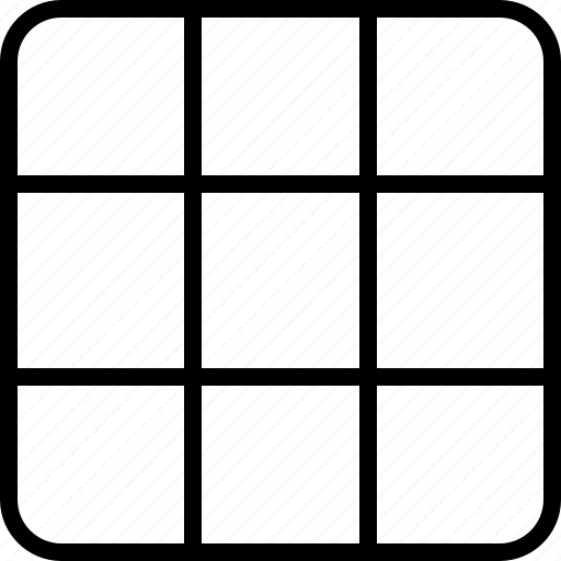 arhitecture, draw, grid, layout, line, space, square icon