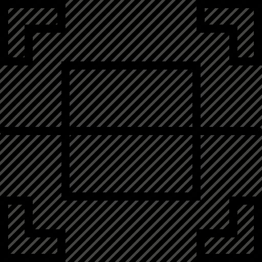 crop, cut, divide, document, image, photo, size icon