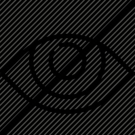eye, file, interaction, interface, secret, unhide icon