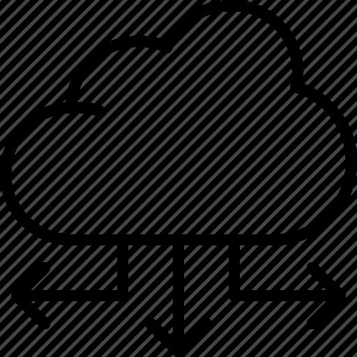 cloud, interaction, interface, internet, network, storage, web icon