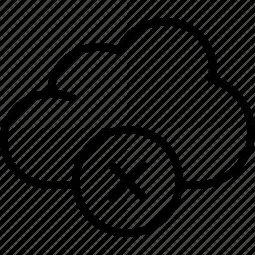 cloud, delete, interaction, interface, internet, network, web icon