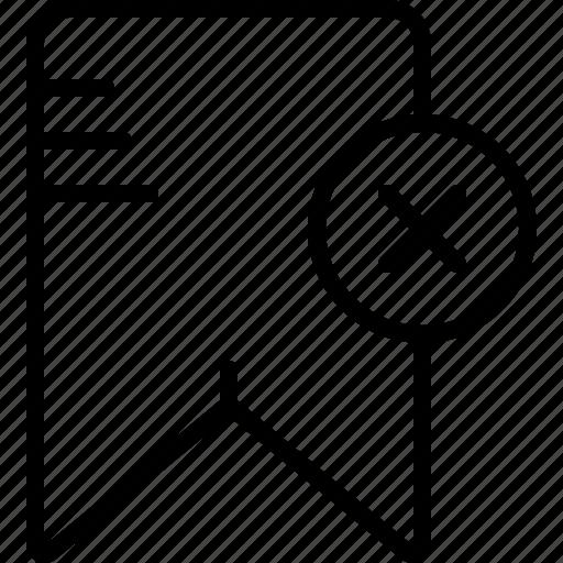 Book, bookmark, delete, file, find, remember, web icon - Download on Iconfinder