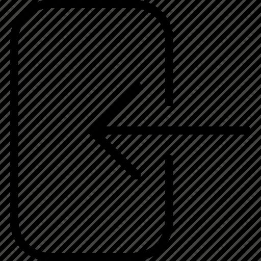 Arrow, come, door, enter, go, login, pass icon - Download on Iconfinder