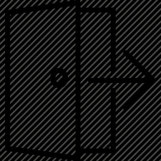 arrow, close, door, exit, leave, login, logout icon