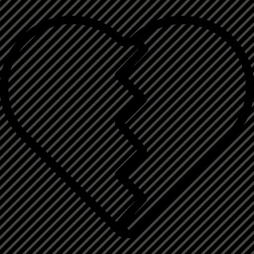 Break, dislike, favorite, hate, heart, popular icon - Download on Iconfinder