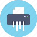 device, paper, shredder icon