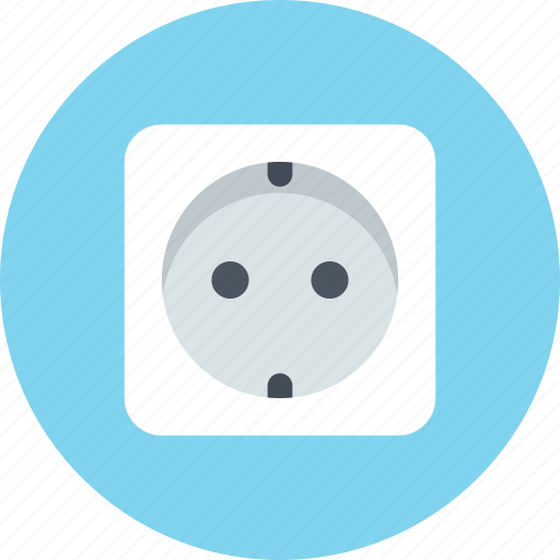 electric, electricity, europe, socket icon