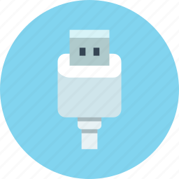 cable, charge, connector, usb icon