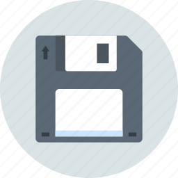 disk, diskette, download, floppy, save, storage icon