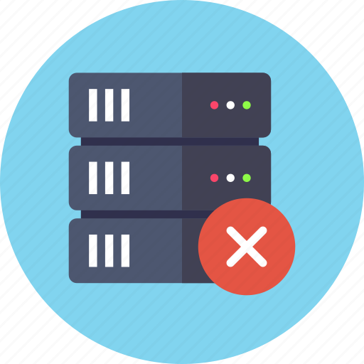 backup, base, database, delete, rack, remove, server icon