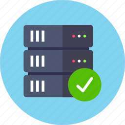 approve, backup, base, check, data, database, server icon