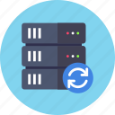 backup, base, database, reload, server, sync, synchornization icon