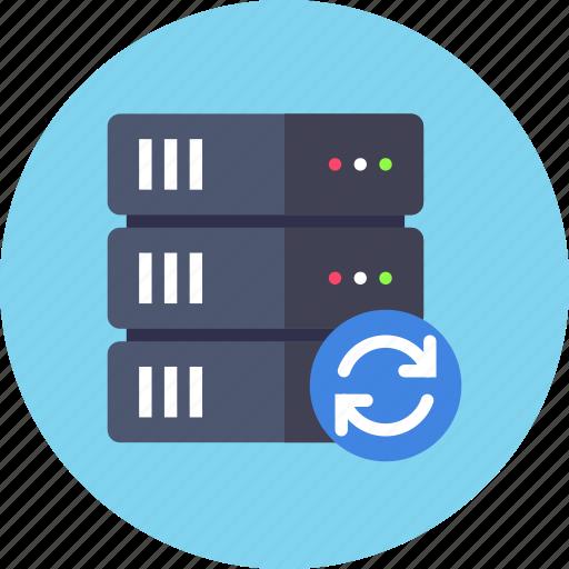 backup, base, database, reload, server, sync, synchornization icon