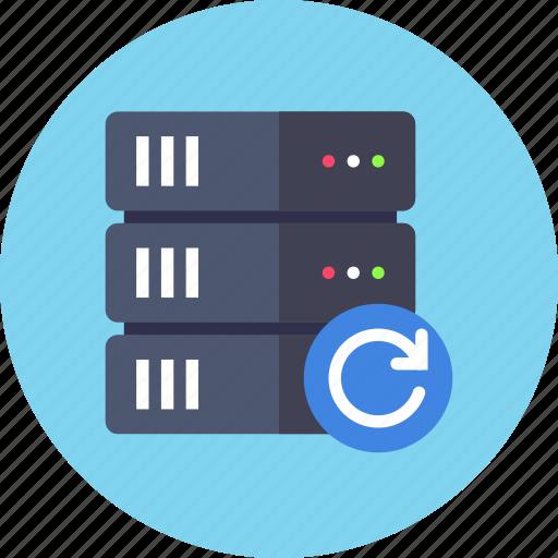 backup, base, data, database, refresh, reload, server icon