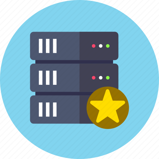 backup, database, star icon