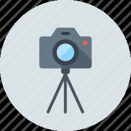camera, digital, dslr, multimedia, photo, stand, tripod icon