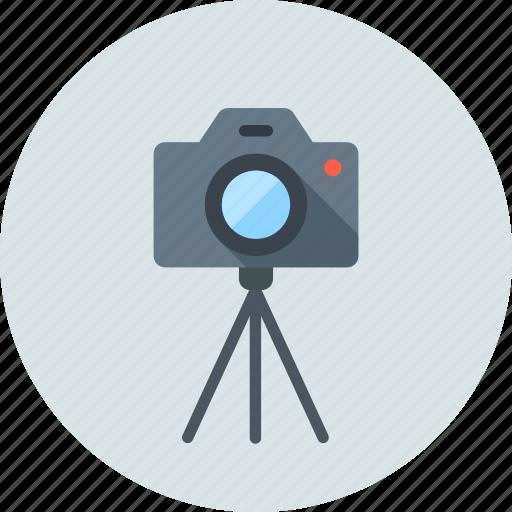 Photo, tripod, camera icon