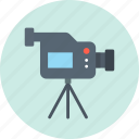 camcorder, camera, device, record, stand, tripod, video icon