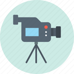 betacam, camera, tripod icon