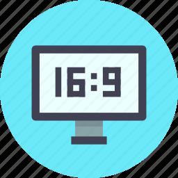 aspect, television, wide icon