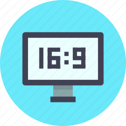 aspect ratio, channel, device, hd, television, tv, wide icon