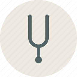 audio, fork, instrument, music, sound, tuning, tuningfork icon