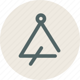 audio, instument, music, sound, triangle icon