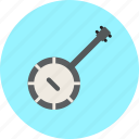 audio, banjo, instrument, music, sound icon