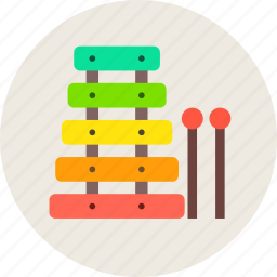 audio, instrument, music, sound, xylophone icon