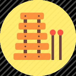 audio, instrument, music, sound, xylophone icon