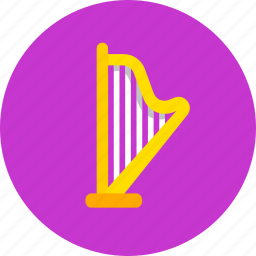 arfa, audio, harp, instrument, music, sound icon