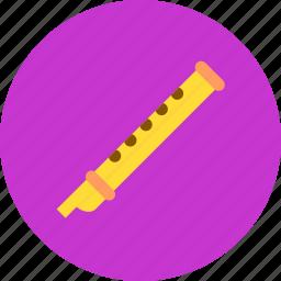 audio, flute, instrument, music, sound icon