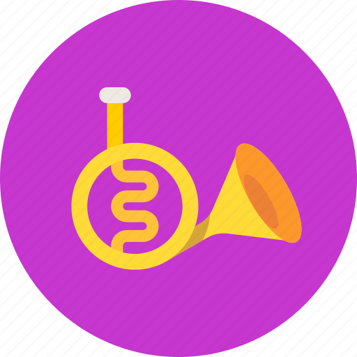 horn, instrument, music icon