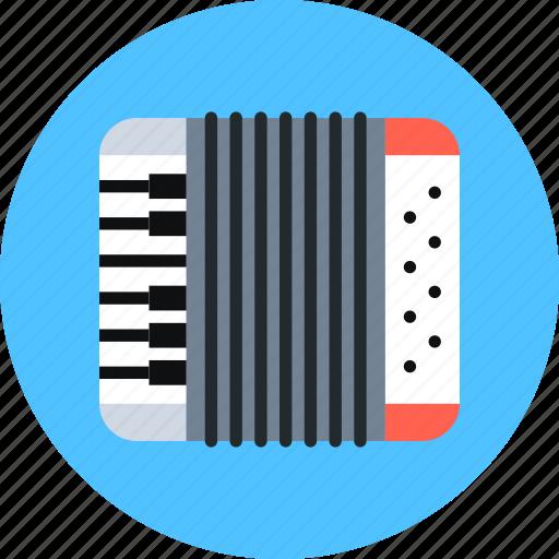 accordion, instrument, music icon